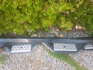 Iron cross 3 step running boards ford chev dodge