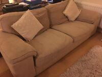 Three seater sofa - beige, originally Cargo Homeshop