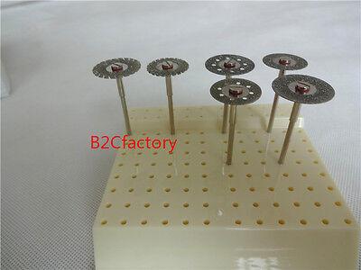 18pcs Dental Diamond Polishing Wheel Saw Disc Rotary Tool18pcs Shank Mandrel