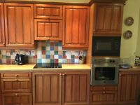 CROSBY KITCHEN WITH SOLID WOOD DOORS TO INCLUDE OVEN & MICROWAVE, CAN BE SEEN IN SITUE