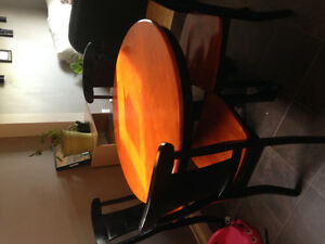 Solid wood round dining set