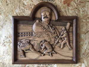 Dale Earnhardt, Sr. Wood Carving By Kim Murray-Creative Carving