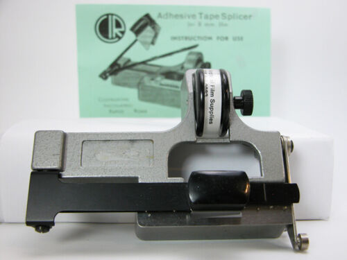 Rare Pro CATOZZO REGULAR 8MM FILM SPLICER With Splicing Tape Works Nicely!
