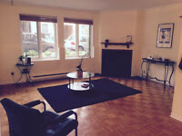 JUILLET: Plateau, 2 chambres, parc Lafontaine ''pet friendly''