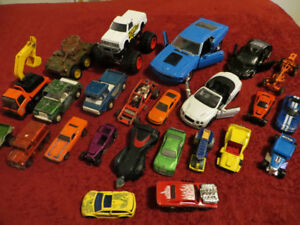 Variety of toy vehicles, old and new