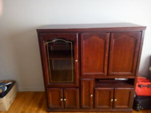 Sturdy heavy entertainment cabinet