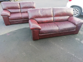 3&2 LEATHER SOFAS