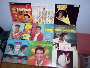 Liste revise: Collection ELVIS Disques vinyles - Vinyl LP Record