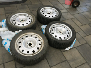 P225 45 R17 ( 5x100) winter tires and rims,Toyo Garit