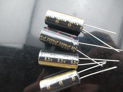 10 Japan Panasonic Fm 2200uf 6.3v 2200mfd Impedance Electrolytic Capacitors