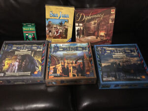 Modern board games - Dominon, LOTR Risk, other