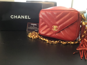 Authentic Chanel Bag in Chevron Leather