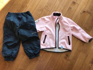 Softshell et pantalon 2 ans