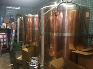 Cask 5000 Litre Brewing System with 5 Copper Tanks