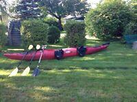 Kayak de mer double Azul Echo avec 540.00$ d'equipements.