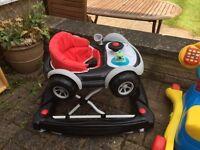 Baby walker car theme