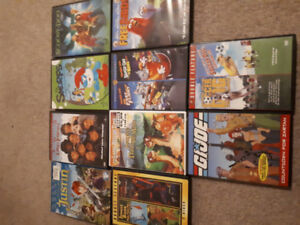 Various kids dvds. Lots of variety