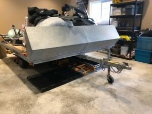 2007 Easy Hauler double Galvanized Snowmobile trailer. Traction