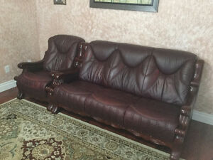 3 piece coffee table, chandelier, 3 piece sofa set with table