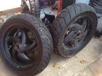 Gilera runner original black wheels