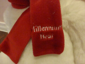 Millennium  teddy bear white with red scarf Kitchener / Waterloo Kitchener Area image 2