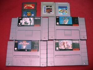 lot jeux gba snes gameboy 80$