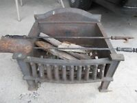 Antique Cast Iron Fireplace Grate / Insert
