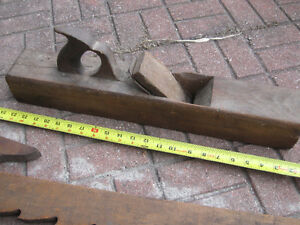 antique wood tools, plane, clamps and stanley level Windsor Region Ontario image 1