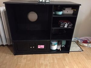 Large solid wood entertainment unit