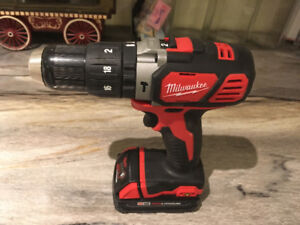Milwaukee Tool 1/2-inch M18 Compact Hammer Drill/Driver
