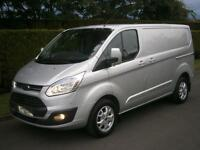 FORD TRANSIT CUSTOM 125psi limited, 290 l1 h1 swb, air con, silver, Silver, Manu