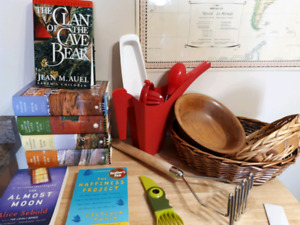 Books and baskets etc