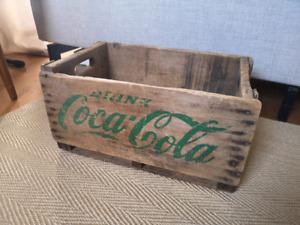 Caisse de bois antique Coca Cola
