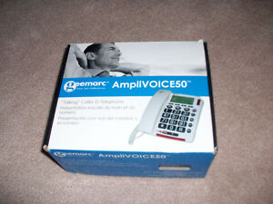 Amplivoice 50 Talking Caller ID Telephone for Hearing Impaired