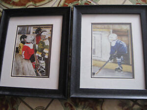 Shirley Deaville framed and matted hockey prints
