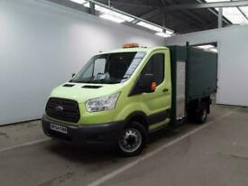 2014 FORD TRANSIT 350 TDCI 100 L2H1 SINGLE CAB ALLOY ARBORIST TIPPER WITH TOOL B