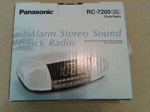 Brand new Panasonic stereo 2-alarm clock radio