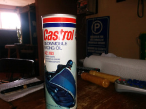 Vintage castrol snowmobile oil can full $20