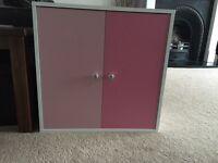 Pink storage cube from argos
