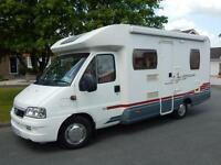 Lunar HOME-CAR P59, 2006, 4 Berth, Fiat 2.3D, Fixed Rear Bed, Awning, Bike Rack!