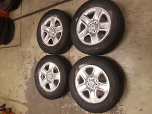 Set of Triangle tires 225/65/17 on original Toyota rims.