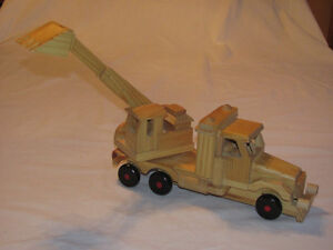 Reduced - Hand-crafted Wooden model of Backhoe on Truck Edmonton Edmonton Area image 3