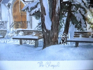 """Hand Signed and Titled Lithograph by Terry Kleemola """"The Chapel"""" Stratford Kitchener Area image 7"""