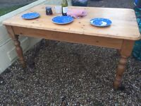 Victorian pine dining table