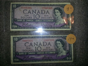 LOOKING TO PURCHASE OLD PAPER MONEY FROM B4 1989................ London Ontario image 5