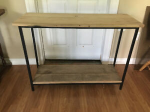 Reclaimed Wood/Metal Console Table