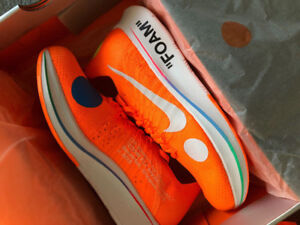 Nike x off white zoom fly mercurial flyknit orange US8