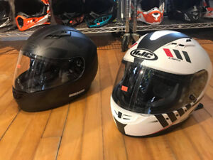 WE HAVE 2 HJC CS-R3 HELMETS - USED ONCE FOR $80 CASH EACH