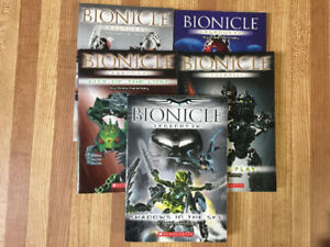 5 Bionicle Legends Chapter Books
