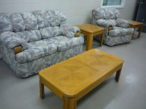 Living room set - loveseat, chair, coffee & side tables